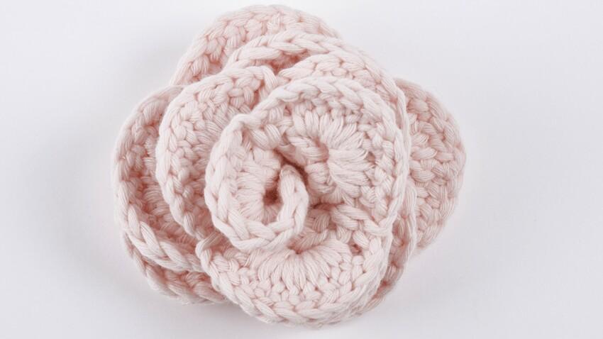 DIY : une rose à crocheter