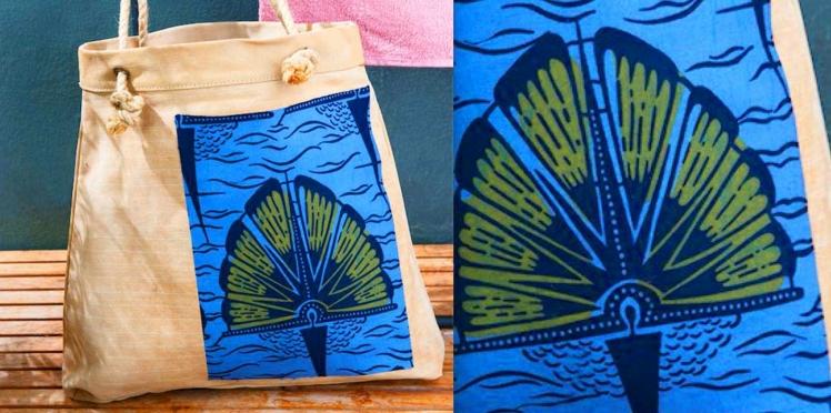 DIY teinture facile : un sac de plage en wax