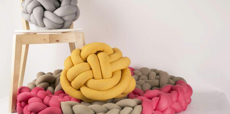 "DIY tendance : le coussin à nœud ou ""Knudepude"""