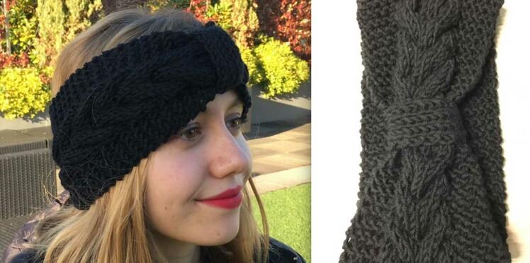 1e64a059114 DIY Tricot   un bandeau pour les cheveux   Femme Actuelle Le MAG