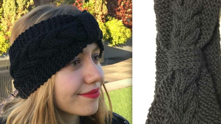 DIY Tricot : un bandeau pour les cheveux