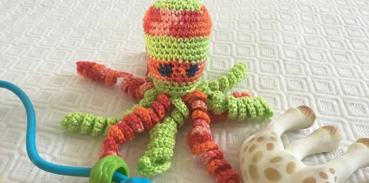 Doudou au crochet : une pieuvre