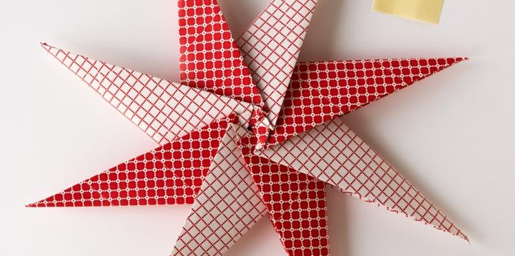 Elégante, l'étoile de Noël à 8 branches