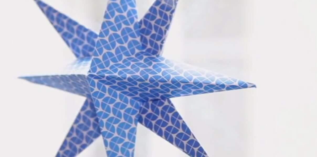 Facile, une étoile en papier en volume
