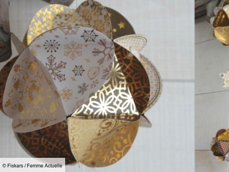 Fabriquer des boules de Noël en papier : Femme Actuelle Le MAG