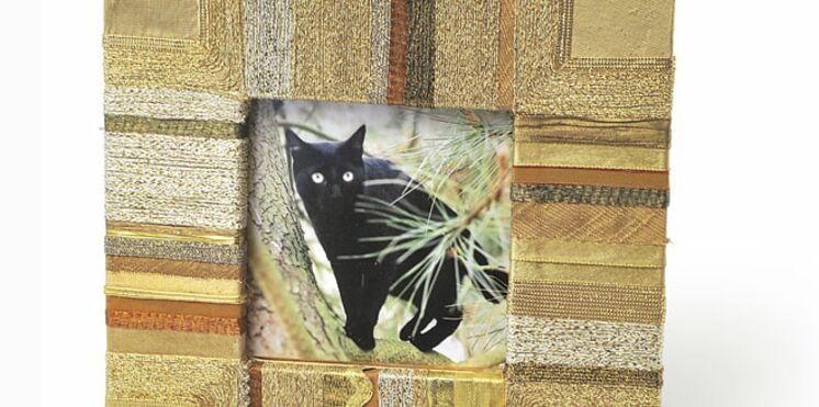 Fabriquer un cadre photo en tissu