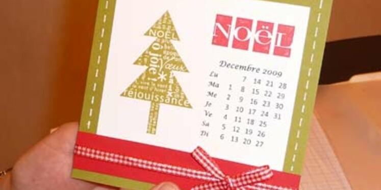 Réaliser une jolie carte de Noël
