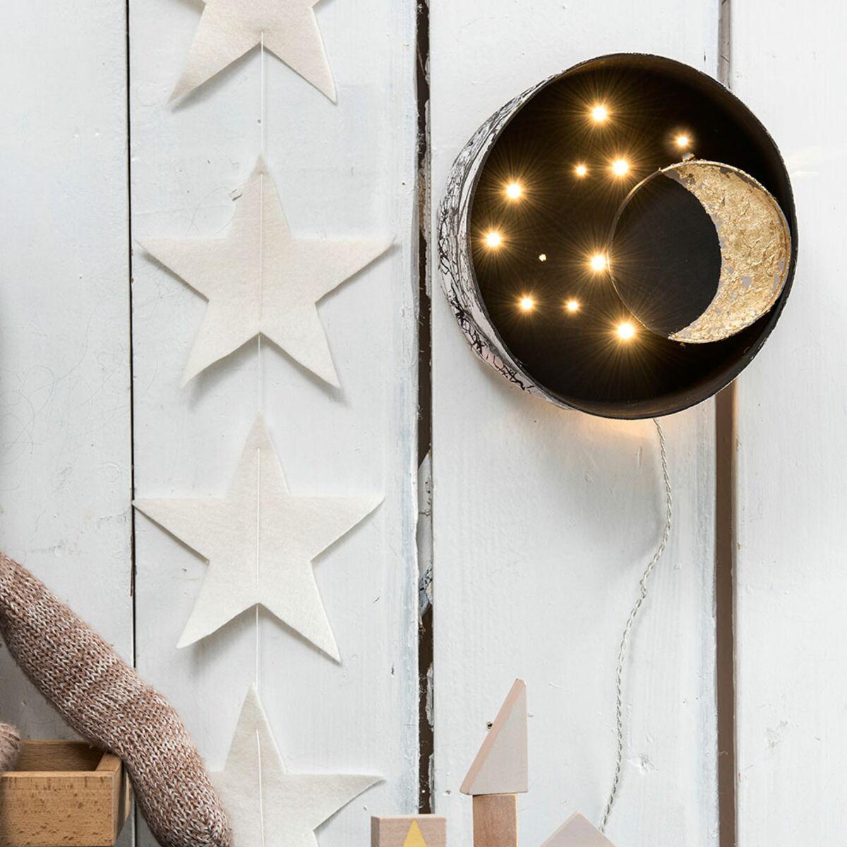 Cabane En Carton Diy fabriquer une lampe pour enfant : notre diy : femme actuelle