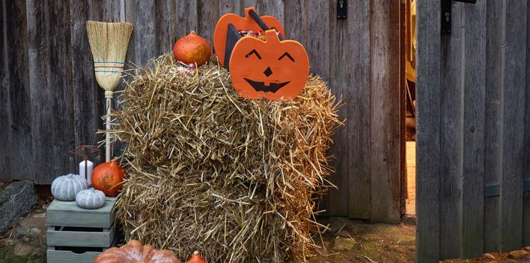Halloween : un panier à bonbons en bois