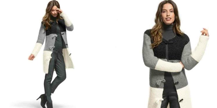 La veste tricotée 3 couleurs