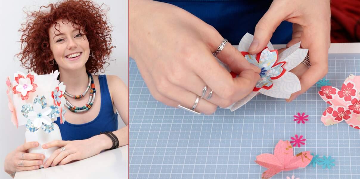 Une lampe en origami avec Blandine Bellavoir