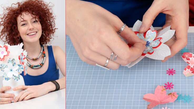 Customisez une lampe en origami avec Blandine Bellavoir