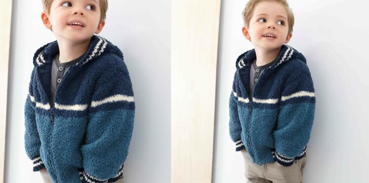 Le blouson en tricot pour enfant