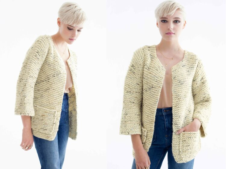 Tricoter un pull femme taille 36
