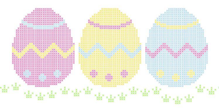 Tous nos modèles de broderies pour Pâques