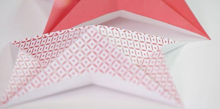 Origami express : l'étoile de Noël à une feuille