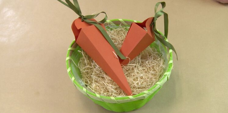 Pâques : une boite carotte pour ma déco