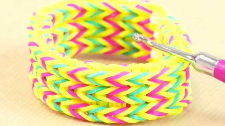 Rainbow Loom : le modèle triple fish tail, bracelet de Lou