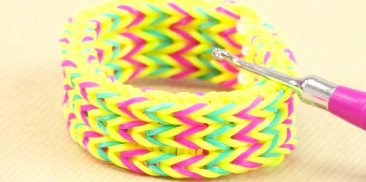 Rainbow Loom : le modèle triple fish tail, bracelet de Lou