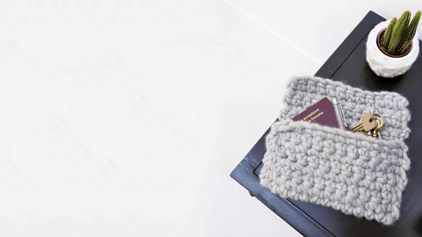 Rapide et facile : une pochette au crochet