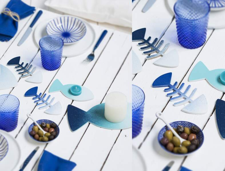 Des centres de table en forme de poissons