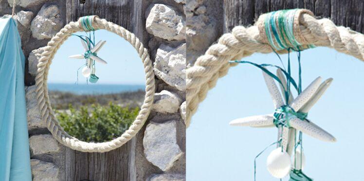 Réaliser un miroir en corde
