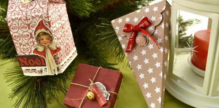 Réalisez une boîte à gourmandises de Noël