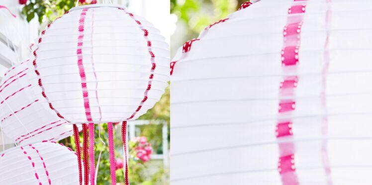Relooker des boules chinoises en papier