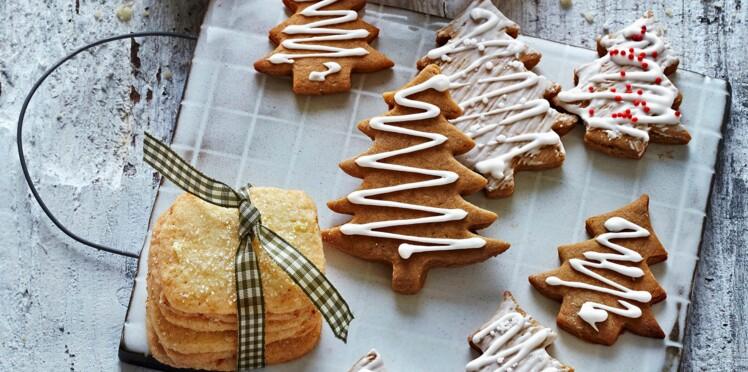 Sablés de noël à décorer : carrés au citron et sapins en pain d'épice