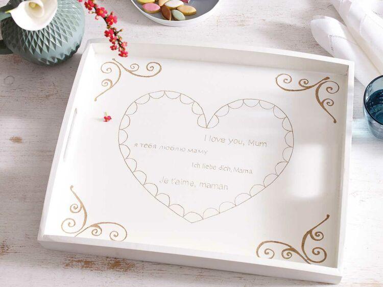 Saint-Valentin : un plateau DIY romantique à offrir : Femme Actuelle ...
