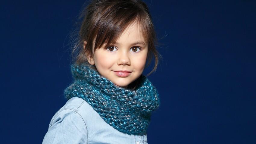 Un snood enfant facile à tricoter