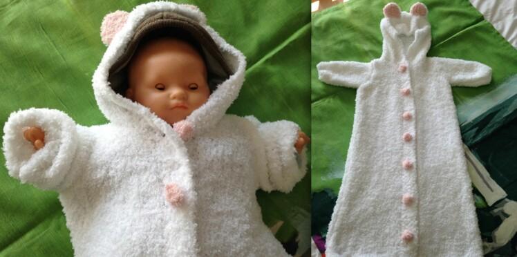 Tricot bébé : un nid d'ange facile