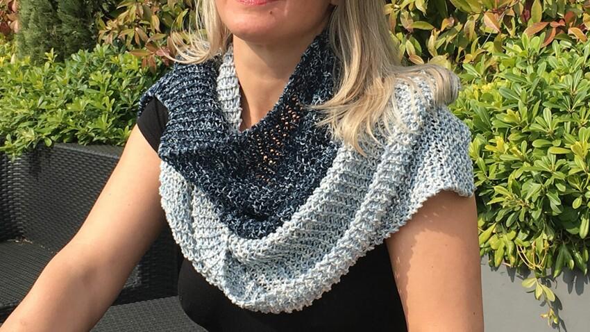 Tricot débutant : une écharpe façon jean