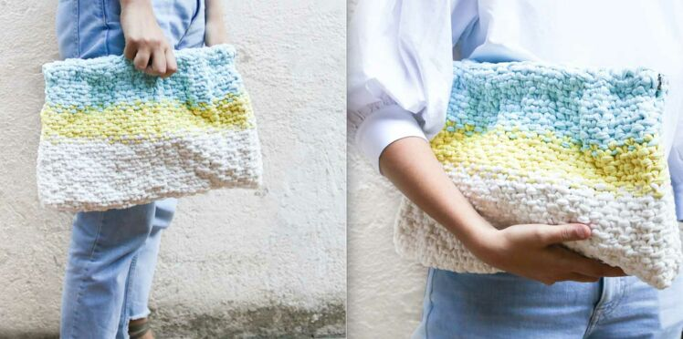 Tricot : une pochette « clutch » avec We Are Knitters