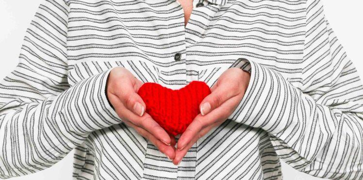 Un cœur tricoté