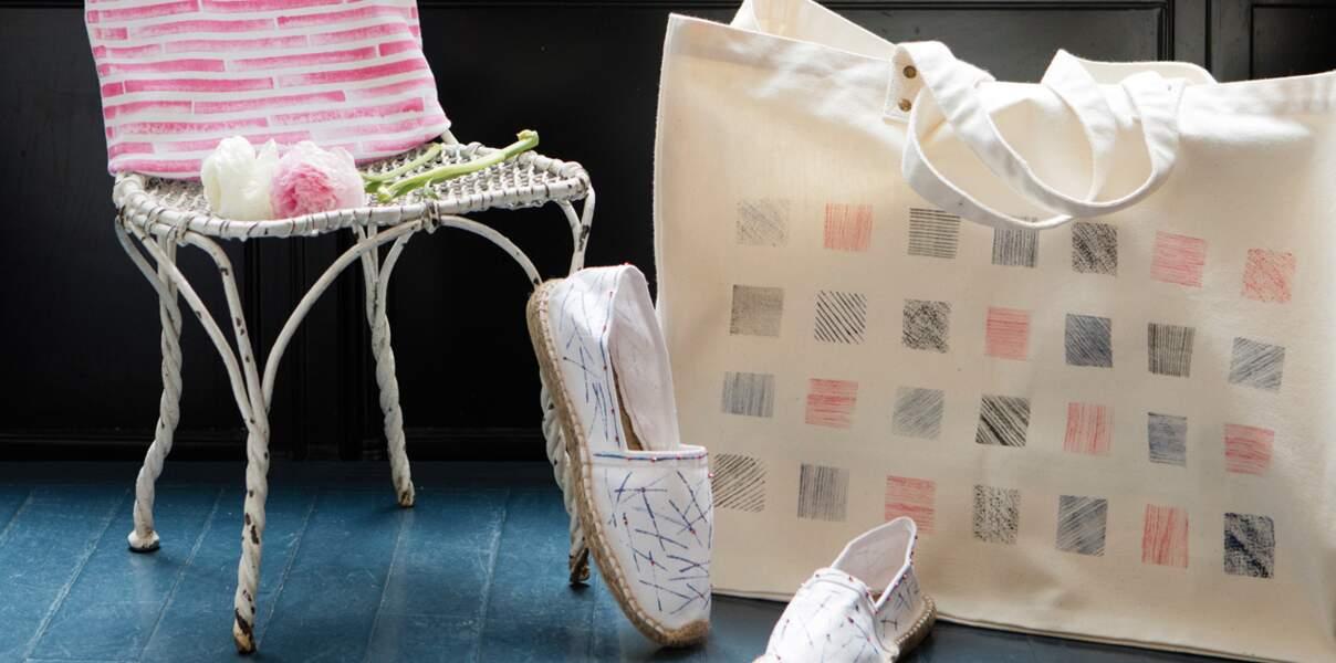 Un tote bag XXL personnalisé à la teinture