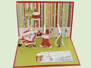 Une carte de Noël pop-up à customiser