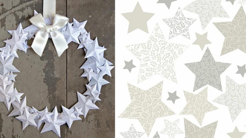 Une couronne d'étoiles en papier pour Noël
