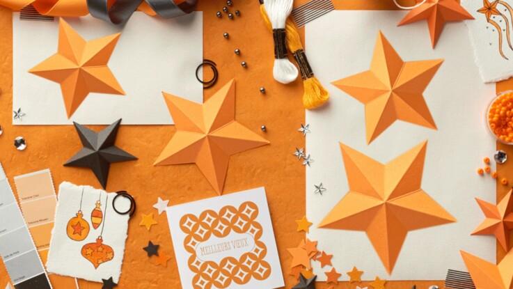 Une étoile pliée en 3D pour votre déco de Noël