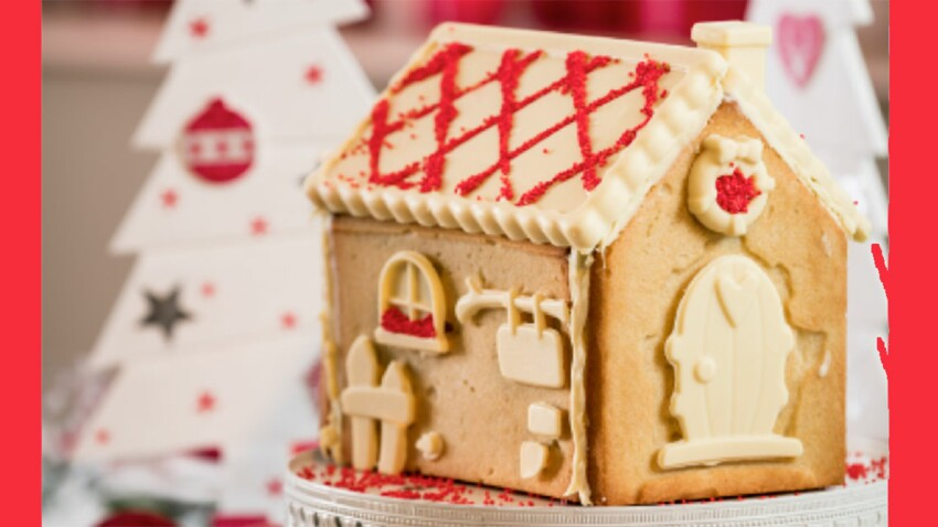 Vidéo : une maison de Noël en pâte sablée