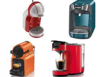 4 machines à café dosettes au banc d'essai