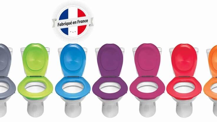 amovible et color e une lunette de toilettes hygi nique. Black Bedroom Furniture Sets. Home Design Ideas