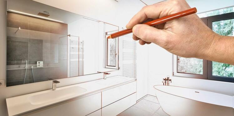 quelle est la bonne hauteur pour un meuble de salle de bain femme actuelle le mag. Black Bedroom Furniture Sets. Home Design Ideas