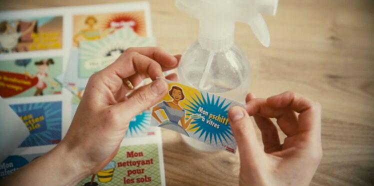 Etiquettes gratuites à imprimer pour vos produits ménagers fait-maison