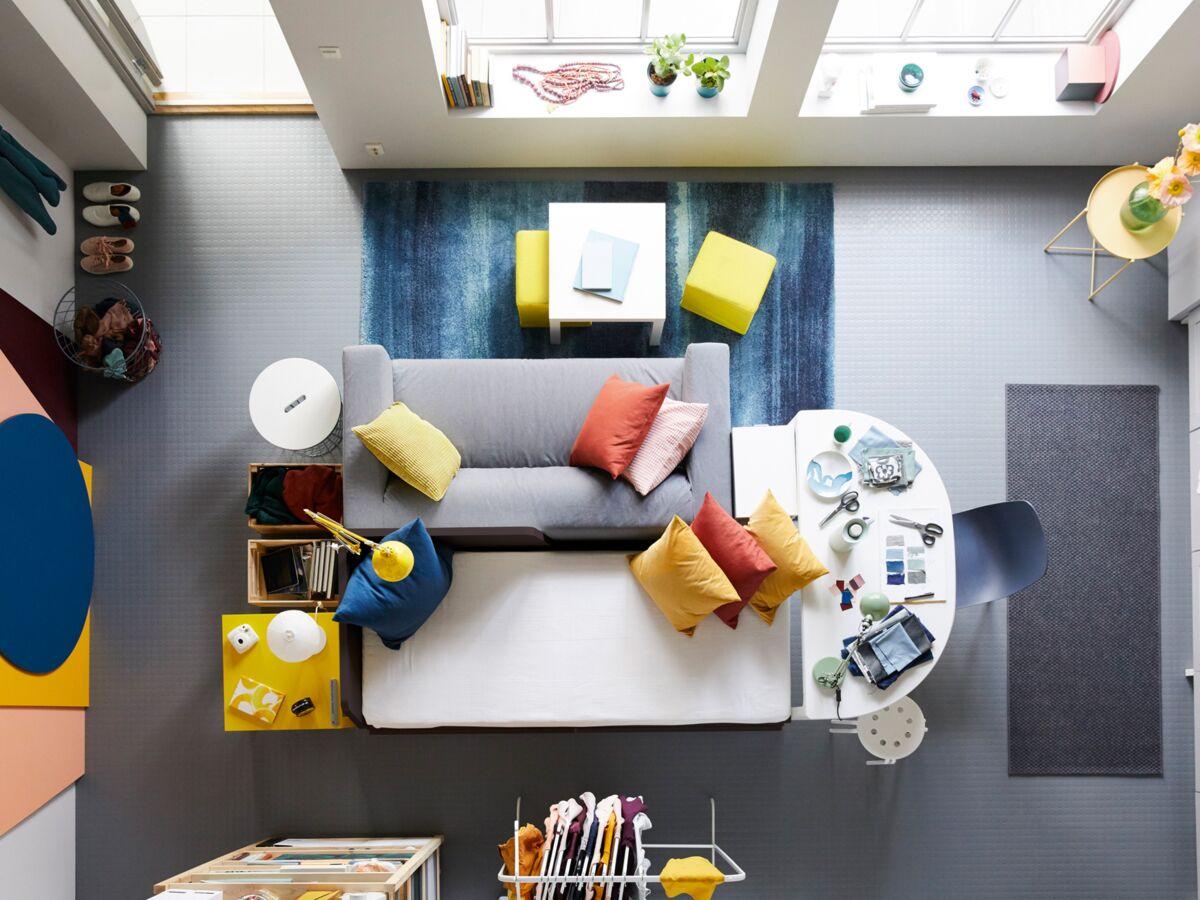 Comment Décorer Son Appartement Pas Cher gain de place : comment aménager un studio ? : femme