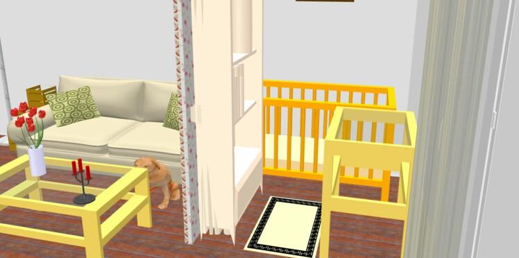 Une chambre de bébé dans un salon
