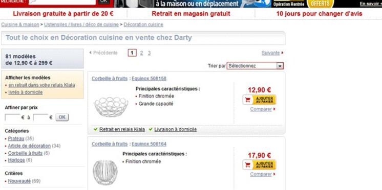 Darty lance sa boutique déco de cuisine en ligne