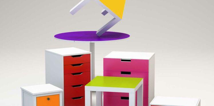 Le sticker couleur qui relooke les meubles