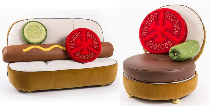 Des meubles design... en forme de burgers ou de hot-dogs !