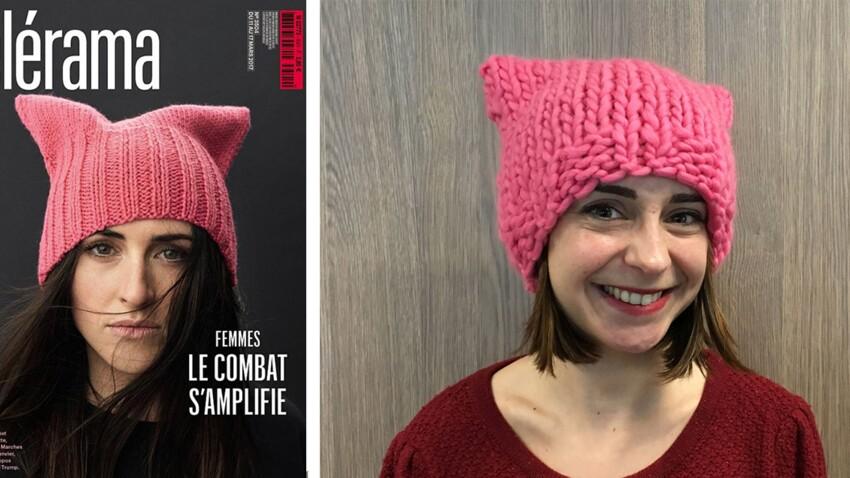 Le « pussy hat » anti-Trump en couverture de Télérama